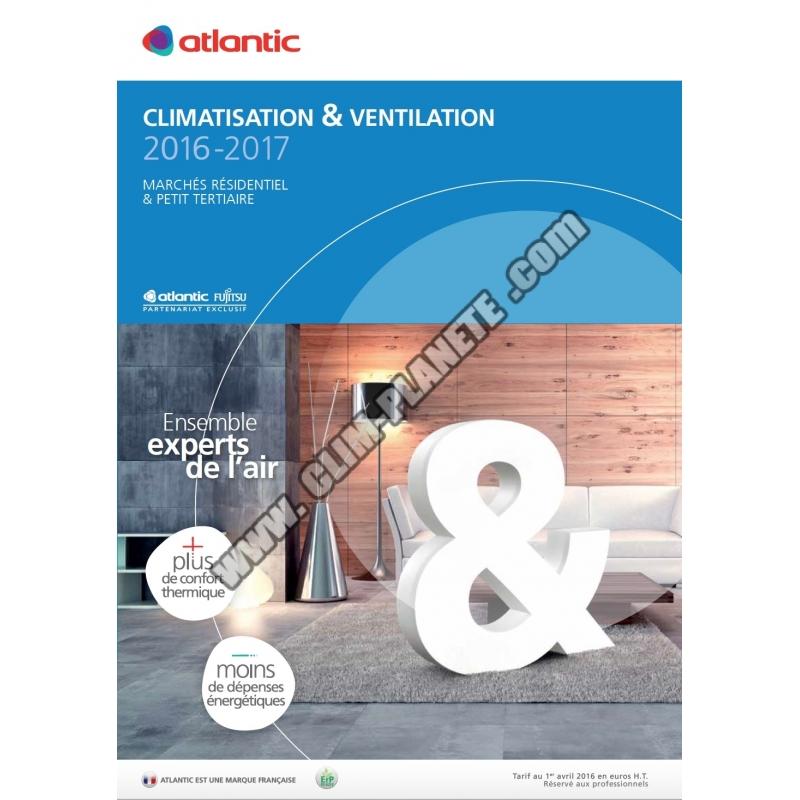 catalogue climatisation atlantic fujitsu 2016 2017. Black Bedroom Furniture Sets. Home Design Ideas