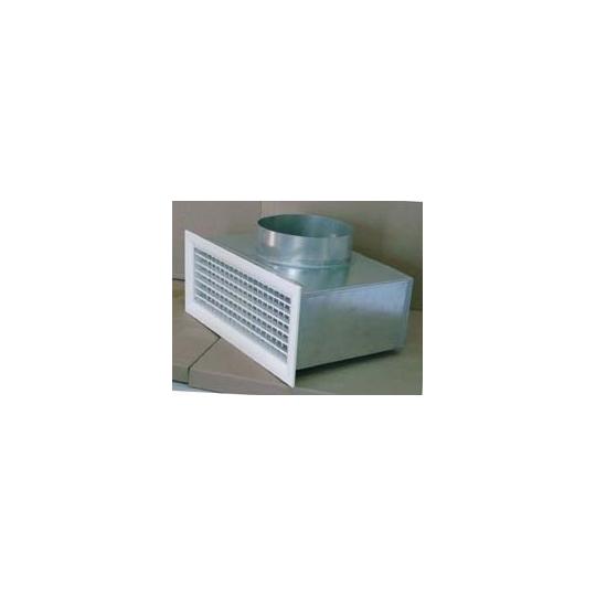 Grille+Plenum Galvanisé Soufflage - Accessoire Climatisation Gainable