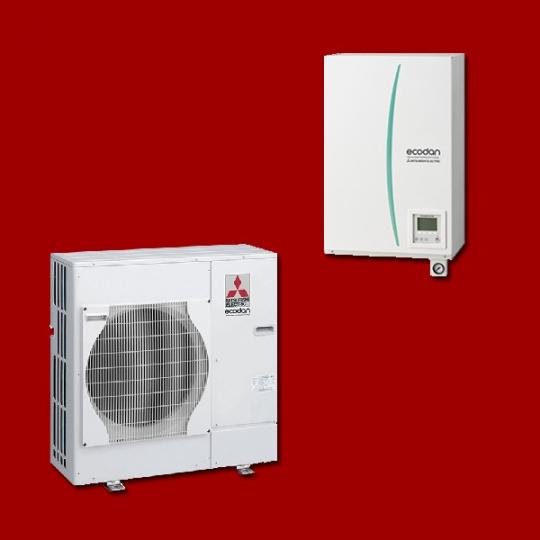 Pompe à Chaleur Air/Eau EHSC-VM6B / PUHZ-SW75VHA MITSUBISHI ELECTRIC