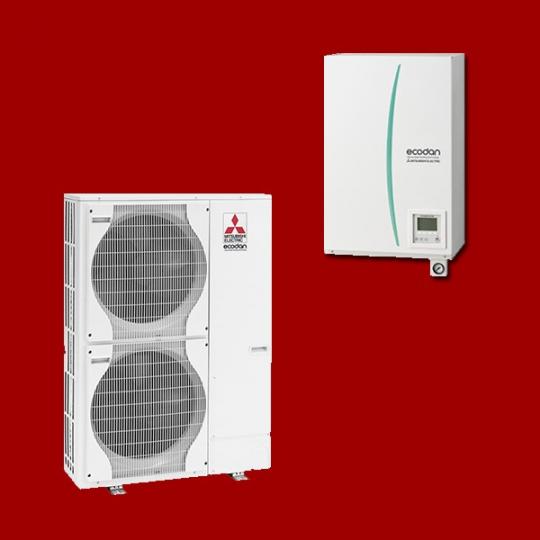 Pompe à Chaleur Air/Eau EHSC-VM6B / PUHZ-SW100VHA MITSUBISHI ELECTRIC