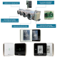 Plénum Soufflage et Reprise AIRZONE Taille L / 5 Sorties MITSUBISHI ELECTRIC - Accessoire Climatisation Gainable