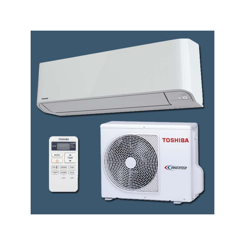 climatiseur inverter r versible mono split ras 10bkv e ras 10bav e toshiba. Black Bedroom Furniture Sets. Home Design Ideas