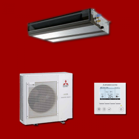 Pompe à Chaleur Inverter Gainable PEAD-SM140JA / PUHZ-SP140VKA MITSUBISHI ELECTRIC